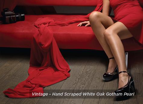 Vintage Flooring - Hand Scraped White Oak Gotham Pearl